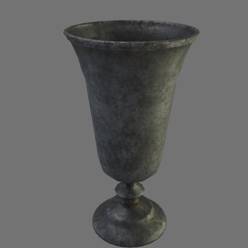Thumbnail: Medieval pewter goblet