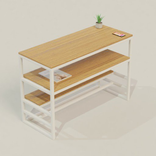 Thumbnail: Table Deks Workbench office desk 120 x 50 x 80