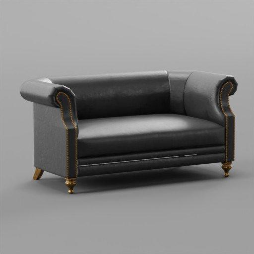 Black Sofa Marlou Dantone home