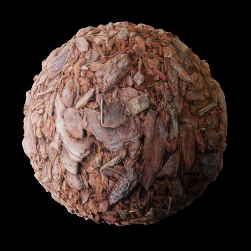Mulched bark