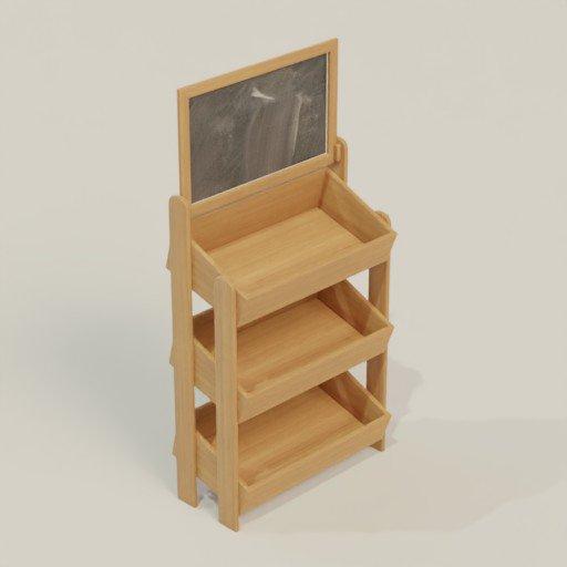 Thumbnail: Rack Shelving Bookcase 84 x 40 x 170