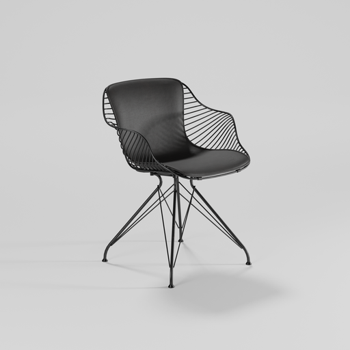 Thumbnail: Wire dining chair 01