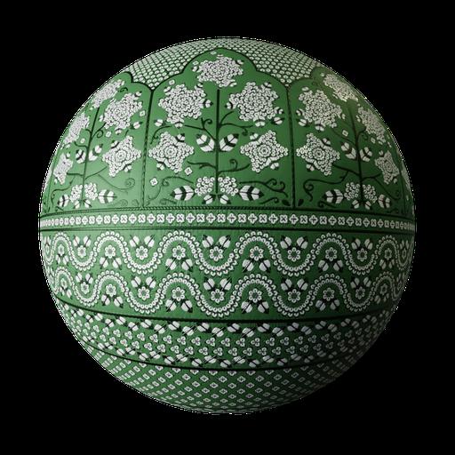 Lehenga green verze1