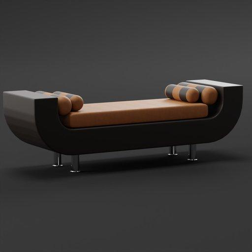 Thumbnail: Indian curve sofa leather