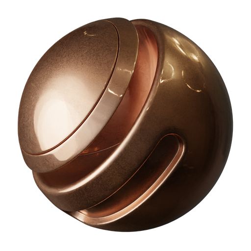 Thumbnail: Brushed Copper Procedural