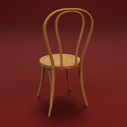 Thumbnail: Curved wood chair