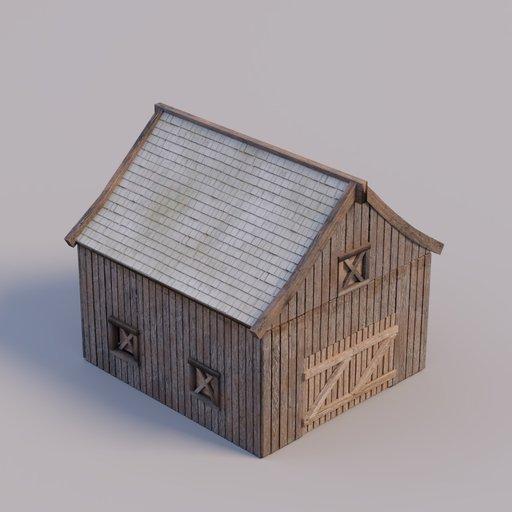 Thumbnail: wooden barn