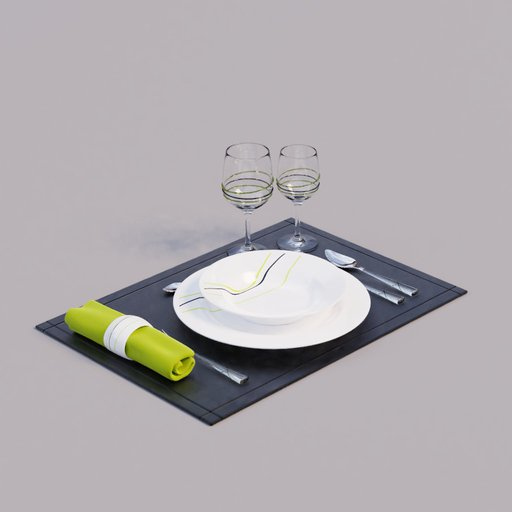 Thumbnail: Table set Rayas