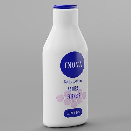Body Lotion Blue Label White Bottle