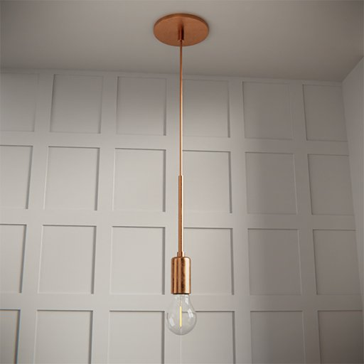 Thumbnail: Copper ceiling lamp