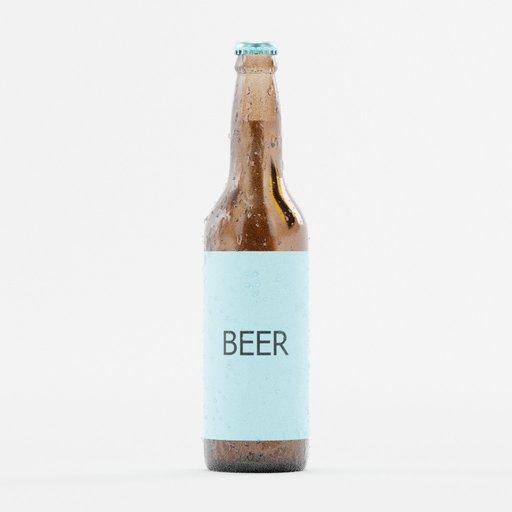Thumbnail: Beer bottle template