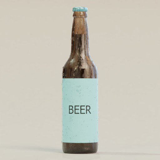 Thumbnail: Beer bottle template