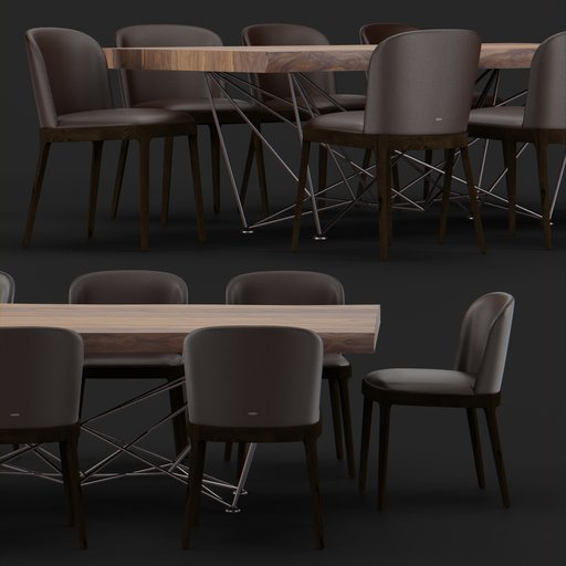 Thumbnail: Cattelan chair table set