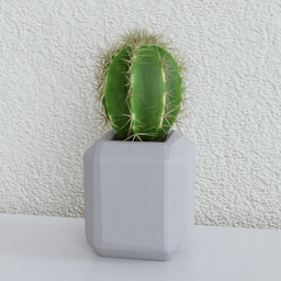 Thumbnail: Potted cactus (mid poly version)
