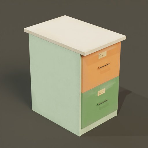 Thumbnail: File cabinet 2 drawers