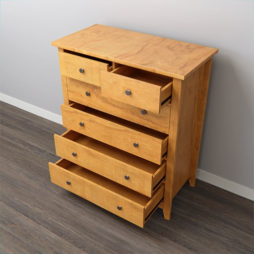 Thumbnail: Chest of drawer with 6 drawer