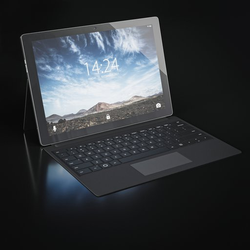 Thumbnail: Tablet PC with stand and keyboard