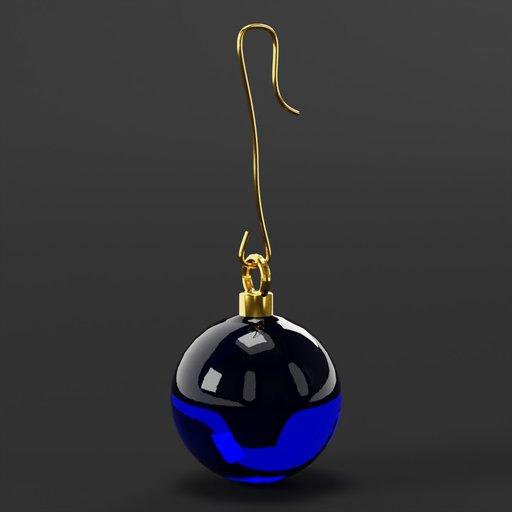 Thumbnail: Christmas ball blue