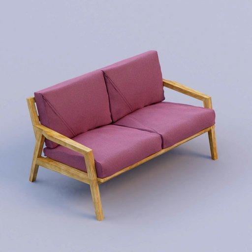Thumbnail: purple fabric sofa