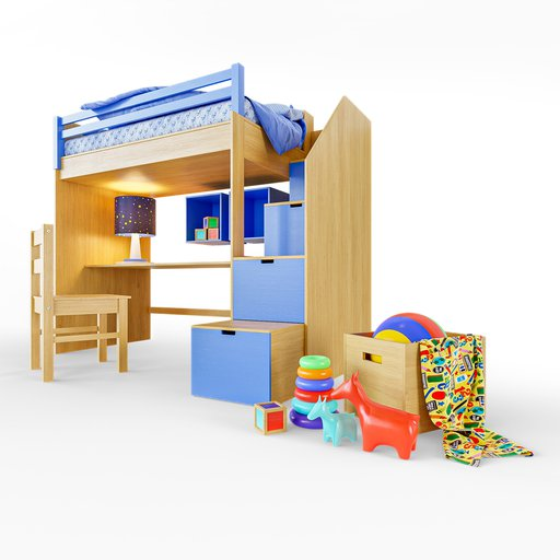 Thumbnail: Childrens Bunk Bed