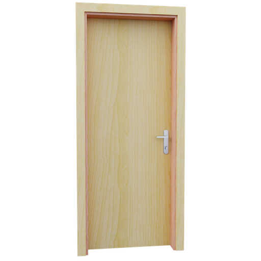 Thumbnail: Internal wooden door - Pine - 80 cm