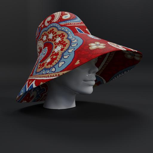 1970s paisley hat