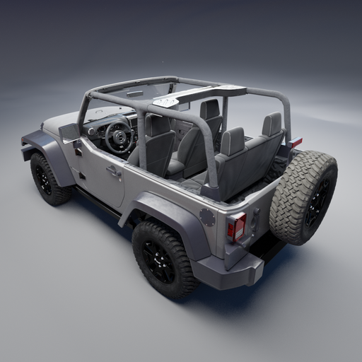 2010 Jeep Wrangler with Interior