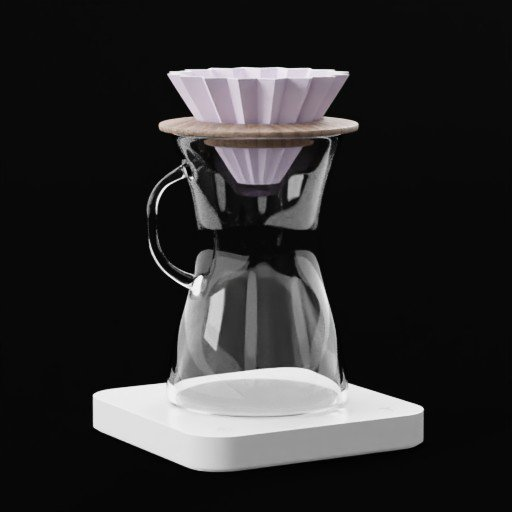 Thumbnail: Origami Coffee Dripper Brewer on Acaia Pearl Precision Coffee Scale