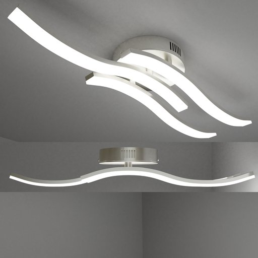 Thumbnail: Ceiling light three waves