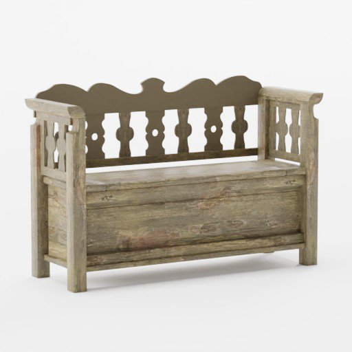 Thumbnail: Old wooden bench