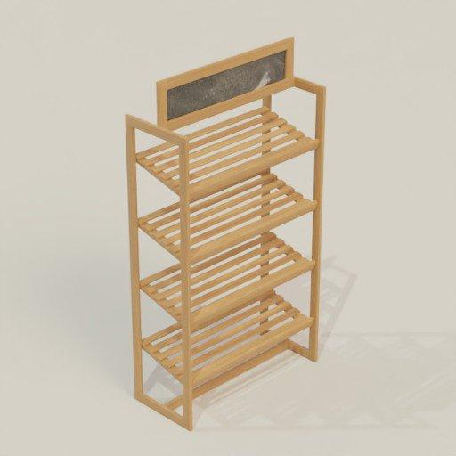 Thumbnail: Rack Shelving Bookcase 90 x 40 x 170