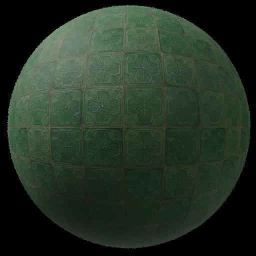 Thumbnail: Green ornamental tiles