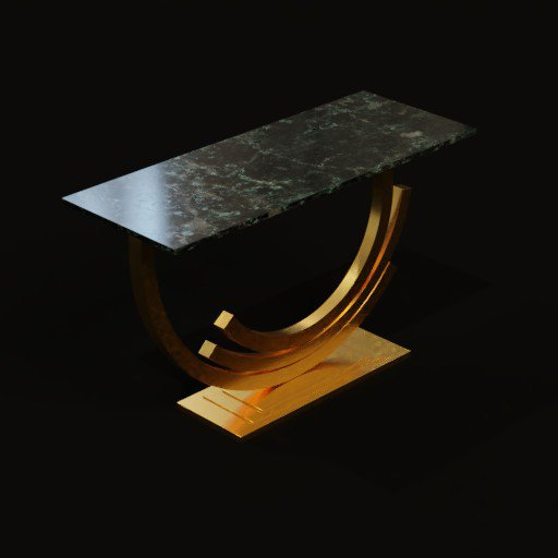 Thumbnail: Console table with gold polish