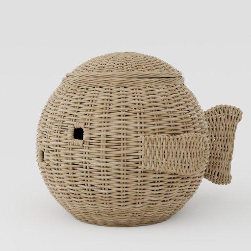 Wicker basket fish