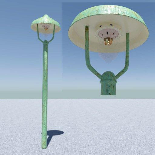 Thumbnail: Historic gas street lamp off