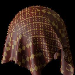Thumbnail: Glossy fabric patterned
