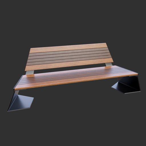 Modern Street Bench