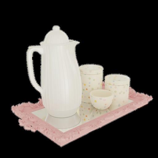Hygiene kit luxury tray mirrored bottle termica