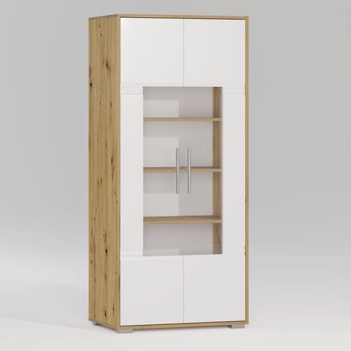 Thumbnail: ROMA Glass door bookcase 2D