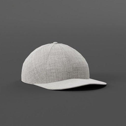 Baseball Cap With Grey Fabric