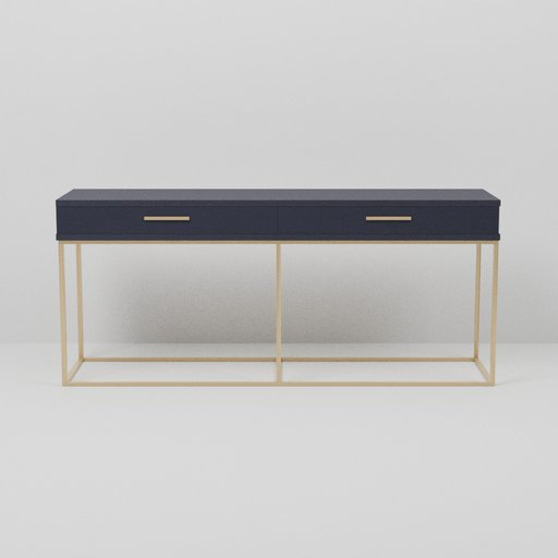 Thumbnail: Brass Navy Side Walk Console Table