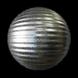 Thumbnail: Corrugated metal zinc coated
