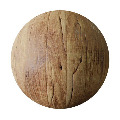 Old wood plank PBR texture seamless
