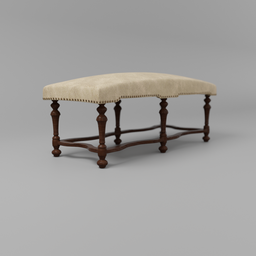 Thumbnail: Foot stool leather