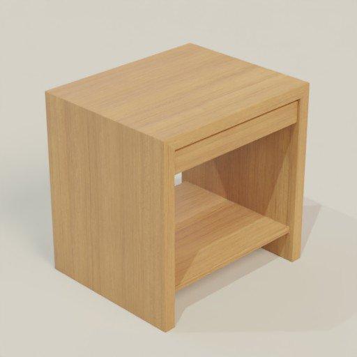 Thumbnail: Bedside Table 60x50x60