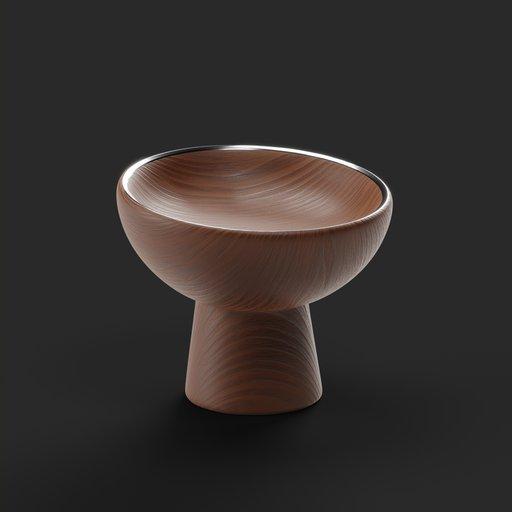 Wood Food Bowl