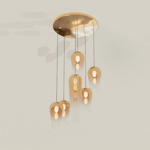 Thumbnail: Chandelier semitransparent glass