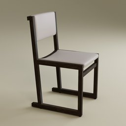Thumbnail: Camerich Emily dining chair - white leather