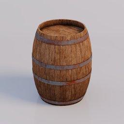 Thumbnail: Medieval wooden barrel