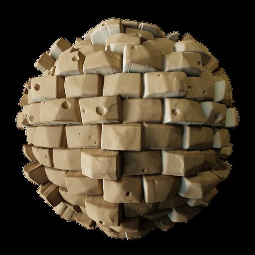 Stylized Sand Bricks